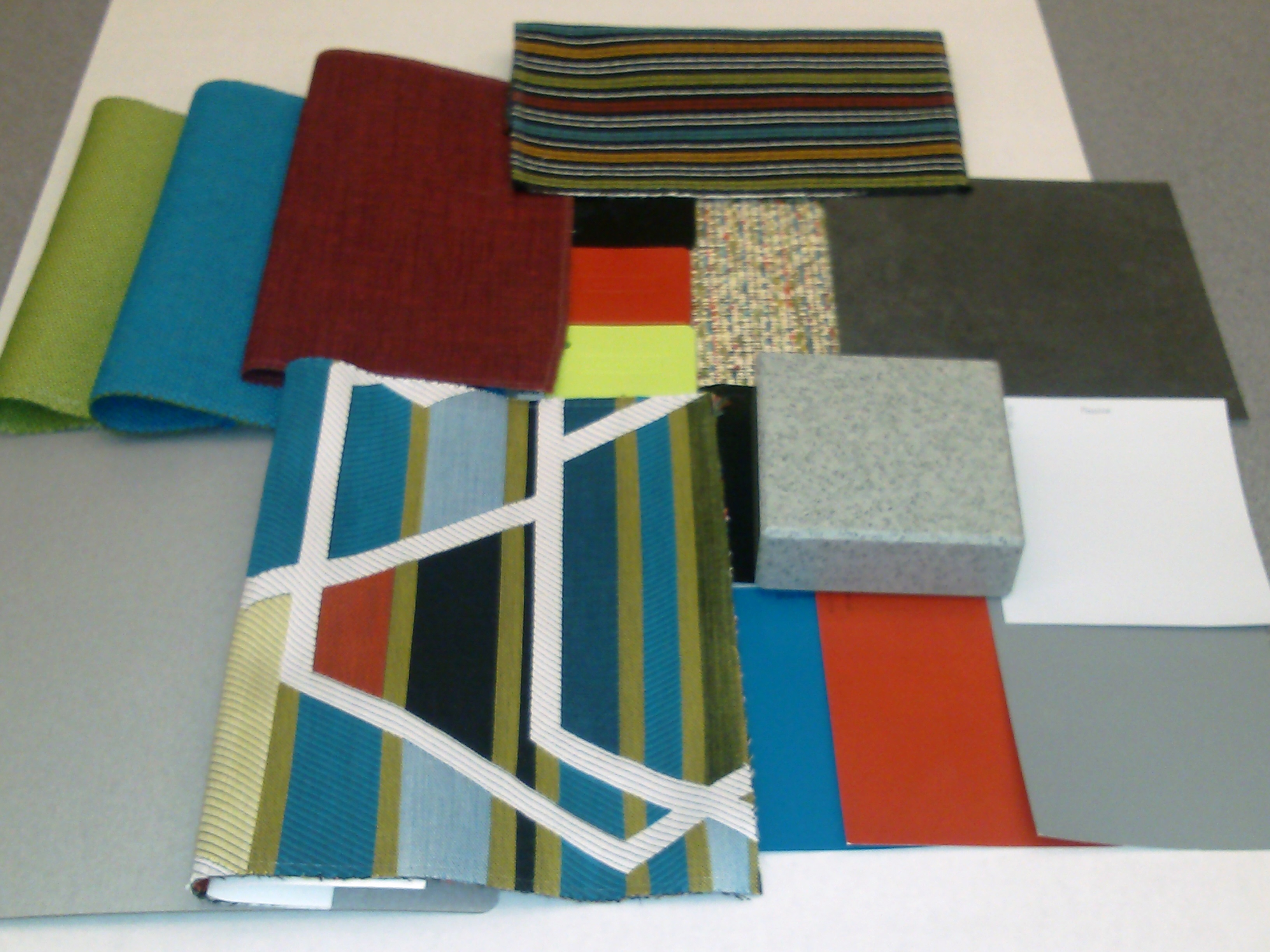 About the work of interior designers colours materials for Interior decoration with waste material